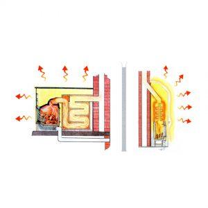 tecnica di riscaldamento radiante